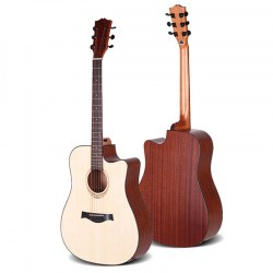 spruce-solid-top-acoustic-guitar-with-bag-string-picks-straps-and-free-shipping-oem-guitar